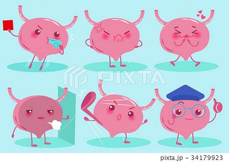 cute cartoon bladder 34179923