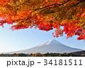 富士山 秋 紅葉の写真 34181511