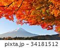 富士山 秋 紅葉の写真 34181512
