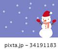 冬 雪 降雪のイラスト 34191183