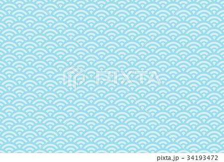 青海波 三本変化 (背景素材) 34193472