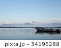 漁船 湖 小田原湖の写真 34196288