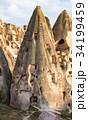アナトリア高原 カッパドキア 洞窟の写真 34199459