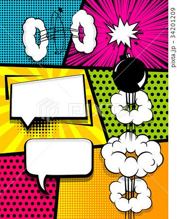comic book pop art vertical back 34201209