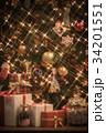 クリスマスツリー クリスマス プレゼントの写真 34201551