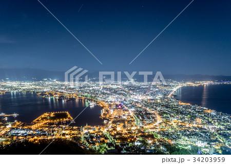 北海道 函館山からの夜景 34203959