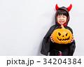 子供 ハロウィン 小悪魔の写真 34204384