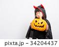 子供 ハロウィン 小悪魔の写真 34204437