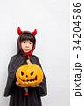 人物 子供 ハロウィンの写真 34204586