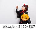 子供 ハロウィン 小悪魔の写真 34204587