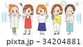 女性 セット グループのイラスト 34204881