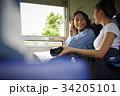 女性 女性達 電車の写真 34205101