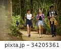 にこやか 一緒 森林の写真 34205361