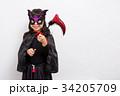 人物 子供 ハロウィンの写真 34205709