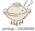 土鍋のイラスト 34206088