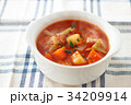 ミネストローネ スープ 食べ物の写真 34209914
