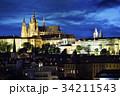 プラハ城 夜景 プラハの写真 34211543