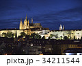プラハ城 夜景 プラハの写真 34211544