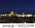 プラハ城 夜景 プラハの写真 34211546