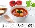 ミネストローネ スープ トマトスープの写真 34211651