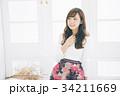 若い女性のヘアスタイルイメージ  34211669