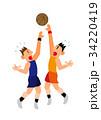 バスケットプレーヤー 34220419