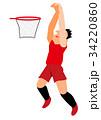 バスケットプレーヤー シュート ダンクシュート 34220860