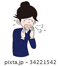 くしゃみ 風邪 花粉症のイラスト 34221542