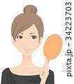 女性 美容 スキンケアのイラスト 34223703