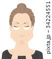 スキンケア パック 女性のイラスト 34224551