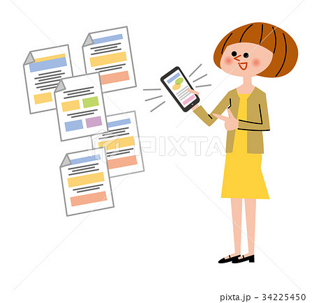 スマートフォンを持っている女性 Webサイト 34225450