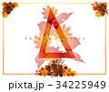 オータム 秋 三角のイラスト 34225949