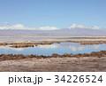 塩湖 アタカマ 山岳の写真 34226524