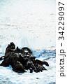 犬吠崎 波 荒波の写真 34229097