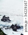 犬吠崎 波 荒波の写真 34229167