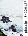 犬吠崎 波 荒波の写真 34229187