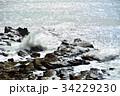 犬吠崎 波 荒波の写真 34229230