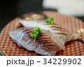 鯵の握り 鯵 アジ 寿司 鮨 光物 和食 回転すし 回転寿司 旬 握り 34229902