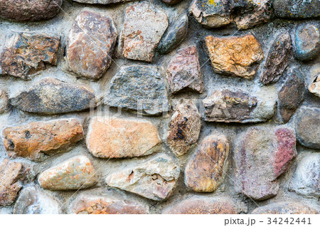 Background texture of an old stone wall 34242441