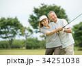 ゴルフ シニア夫婦 アクティブ イメージ 34251038