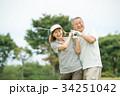 ゴルフ シニア夫婦 アクティブ イメージ 34251042