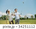 ゴルフ ミドル 夫婦 スポーツ ゴルフ場 イメージ 34251112