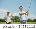 ゴルフ ミドル 夫婦 スポーツ ゴルフ場 イメージ 34251118