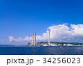 海から眺めた東京電力横須賀火力発電所 34256023