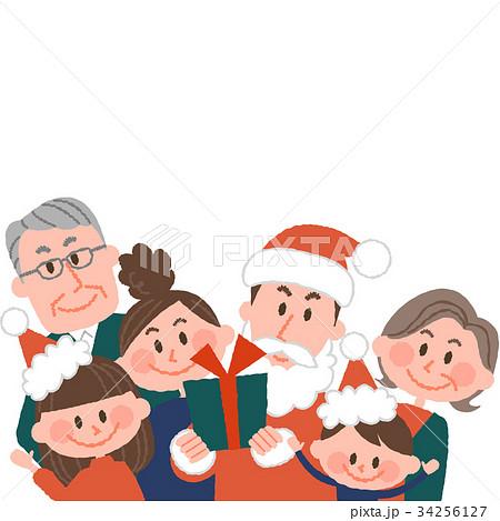 お父さんサンタクロースと家族 34256127