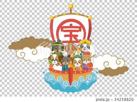 七福神【年賀状・シリーズ】 34258820