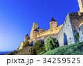 歴史的城塞都市カルカソンヌの夜景 34259525