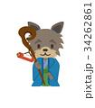 福禄寿 犬 ベクターのイラスト 34262861