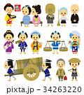 江戸時代 時代劇 人物のイラスト 34263220