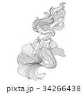 マーメイド マーメード 人魚のイラスト 34266438
